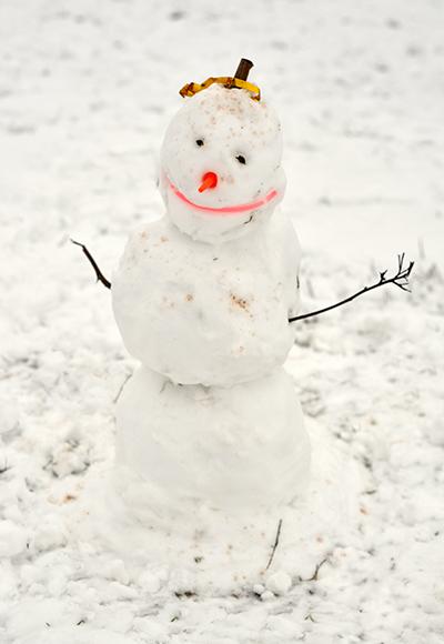 happy 2017 snowman